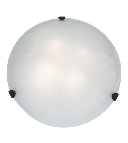 Access 23021-RU/ALB Mona 4 Light 20 inch Rust Flush Mount Ceiling Light in Alabaster, Incandescent photo