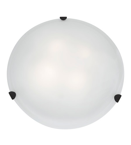 Access 23021GU-RU/WH Mona 3 Light 20 inch Rust Flush Mount Ceiling Light in White photo