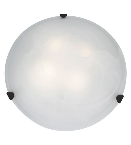 Access 23021LEDD-RU/ALB Mona LED 20 inch Rust Flush Mount Ceiling Light in Alabaster photo