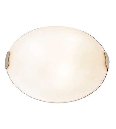 Access 23023LEDD-BS/TEX Linen LED 16 inch Brushed Steel Flush Mount Ceiling Light photo