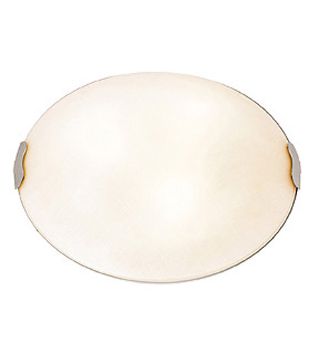 Access 23024LEDD-BS/TEX Linen LED 20 inch Brushed Steel Flush Mount Ceiling Light photo