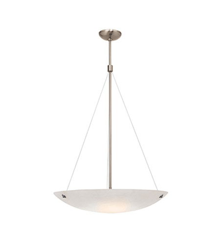 Access Lighting Noya 3 Light Pendant in Brushed Steel with Alabaster Glass C23072BSALBEN1326B photo