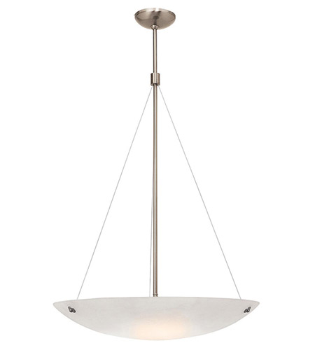 Access Lighting Noya 3 Light Pendant in Brushed Steel with Alabaster Glass C23073BSALBEN1326B photo