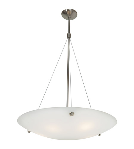Access C23074BSWHTEN1326B Noya 3 Light 28 inch Brushed Steel Pendant Ceiling Light in White photo