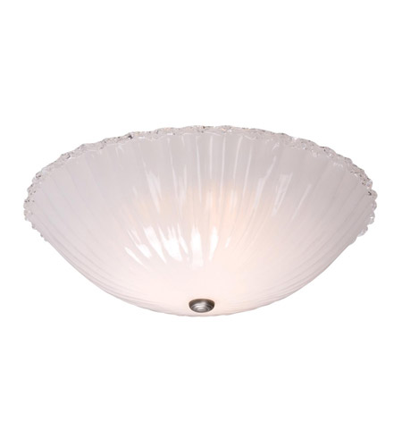 Access Lighting Venus 4 Light Flush Mount in Brushed Steel 23076-BS/WHT photo