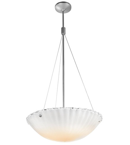 Access Lighting Venus 5 Light Pendant in Brushed Steel 23082-BS/WHT photo