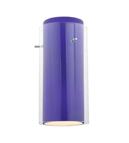 Access 23133-BS/CLCB Glass in Glass Brushed Steel Glass Shade in Clear and Cobalt, Cylinder photo