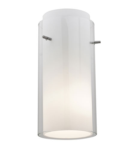 Access Lighting GnG Glass Cylinder in Brushed Steel 23133-BS photo