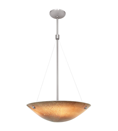 Access Lighting Safari 4 Light Pendant in Brushed Steel 23201-BS/SLA photo