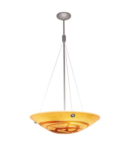 Access Lighting Safari 4 Light Pendant in Brushed Steel 23203-BS/LAV photo