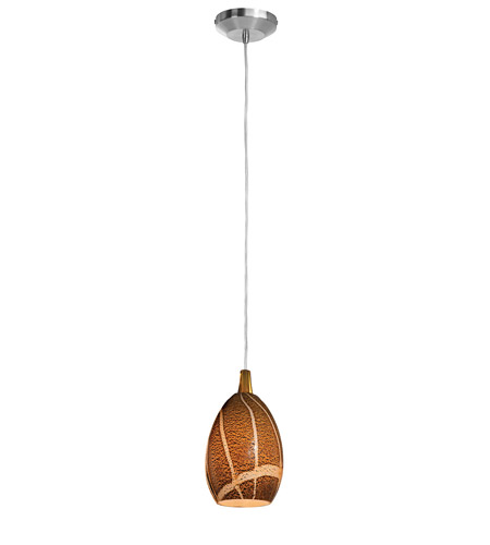 Access Lighting Safari 1 Light Pendant in Brushed Steel 23215-BS/AMZ photo