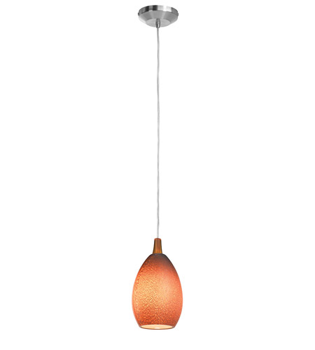Access Lighting Safari 1 Light Pendant in Brushed Steel 23215-BS/SLA photo