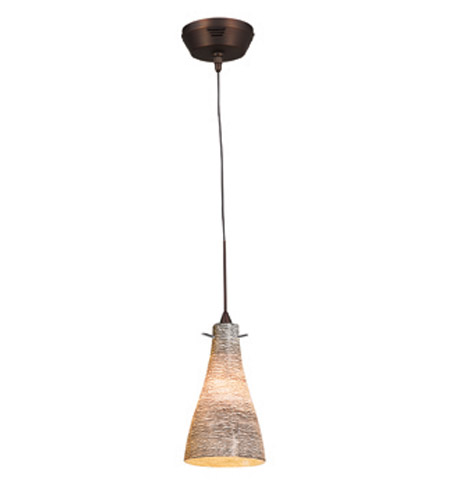 Access Lighting Cavo 1 Light Mini Pendant in Bronze with Black and White Glass 23218UJ-3-BRZ/BLC photo