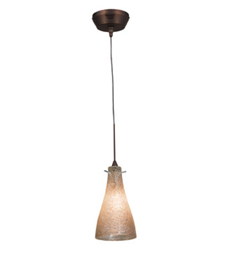 Access Lighting Cavo 1 Light Mini Pendant in Bronze with Crystal Glass 23218UJ-1-BRZ/CRY photo