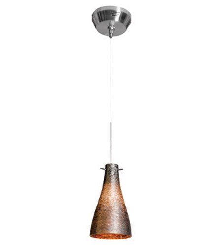 Access Lighting Cavo 1 Light Mini Pendant in Brushed Steel with Metal Glass 23218UJ-2-BS/MTL photo