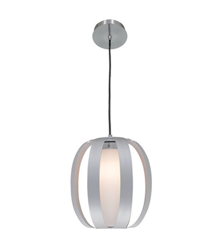 Access Lighting Helix 1 Light Pendant in Aluminum 23425-ALU/OPL photo