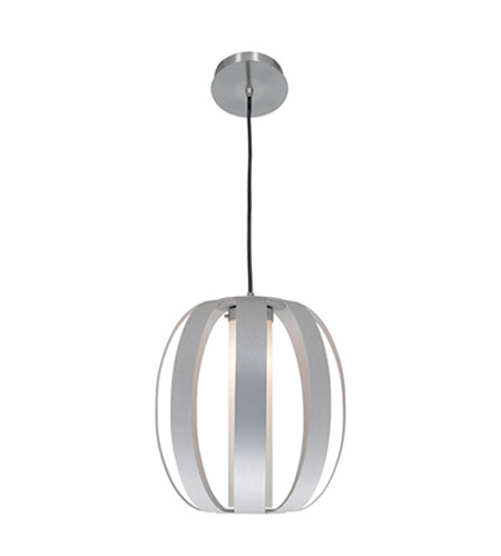 Access 23426-ALU/OPL Helix 1 Light 13 inch Aluminum Pendant Ceiling Light photo