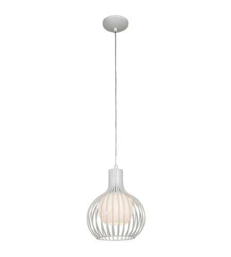 Access 23437-WH Chuki 1 Light 8 inch White Pendant Ceiling Light alternative photo thumbnail