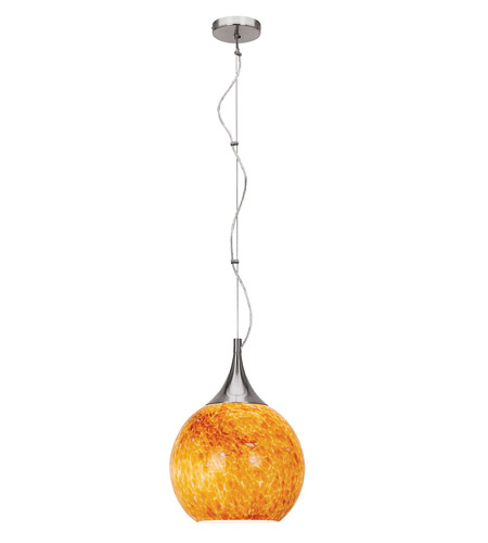 Access Lighting Manhattan 1 Light Pendant in Brushed Steel 23630-BS/COG photo