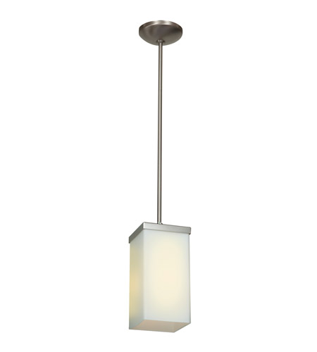 Access 23638-BS/OPL Basik 1 Light 4 inch Brushed Steel Pendant Ceiling Light photo