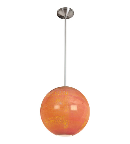 Access Lighting Safari 1 Light Pendant in Brushed Steel 23640-BS/SAO photo