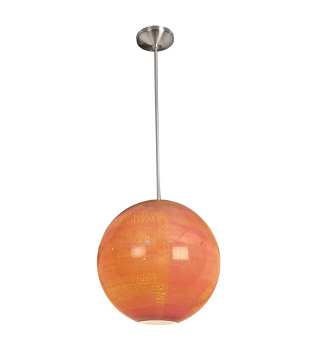 Access Lighting Safari 1 Light Pendant in Brushed Steel 23642-BS/SAO photo
