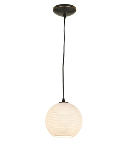 Access Lighting Lantern 1 Light Pendant in Oil Rubbed Bronze 23643-ORB/WHTLN photo