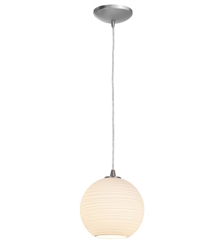 Access Lighting Lantern 1 Light Pendant in Brushed Steel 23645-BS/WHTLN photo