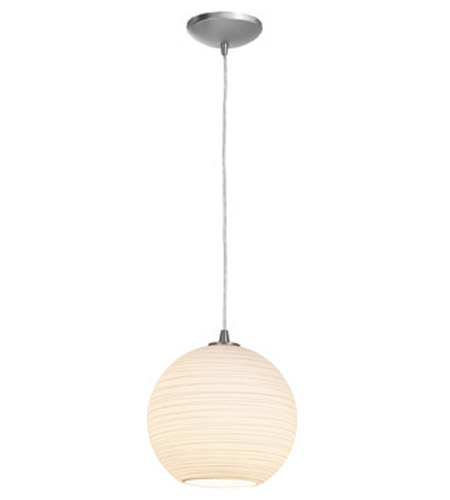 Access Lighting Lantern 1 Light Pendant in Brushed Steel 23646-BS/WHTLN photo