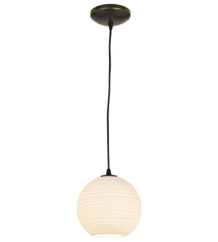 Access Lighting Lantern 1 Light Pendant in Oil Rubbed Bronze 23647-ORB/WHTLN photo