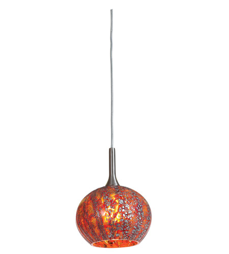 Access Lighting Safari 1 Light Pendant in Brushed Steel 23650-BS/RRO photo