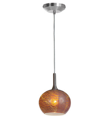Access Lighting Safari 1 Light Pendant in Brushed Steel 23650-BS/SAO photo