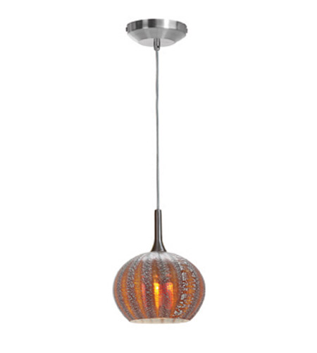 Access Lighting Safari 1 Light Pendant in Brushed Steel 23650-BS/SARO photo