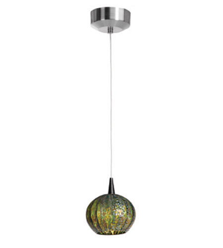 Access Lighting Safari 1 Light Pendant in Brushed Steel 23652-BS/GRO photo