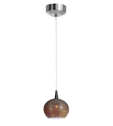 Access Lighting Safari 1 Light Pendant in Brushed Steel 23652-BS/SAO photo