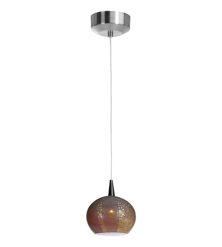 Access Lighting Safari 1 Light Pendant in Brushed Steel 23653-BS/SAO photo