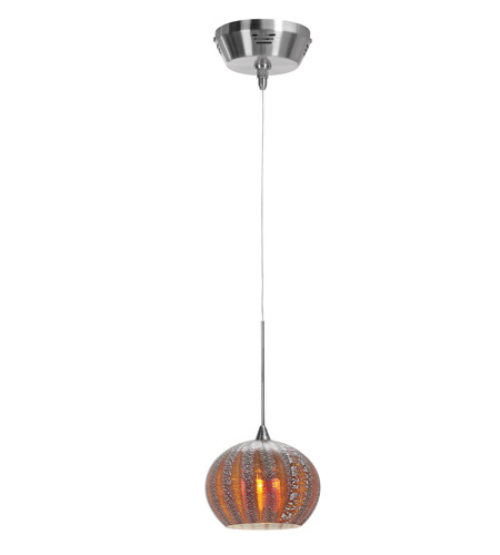Access Lighting Safari 1 Light Pendant in Brushed Steel 23654-BS/SARO photo