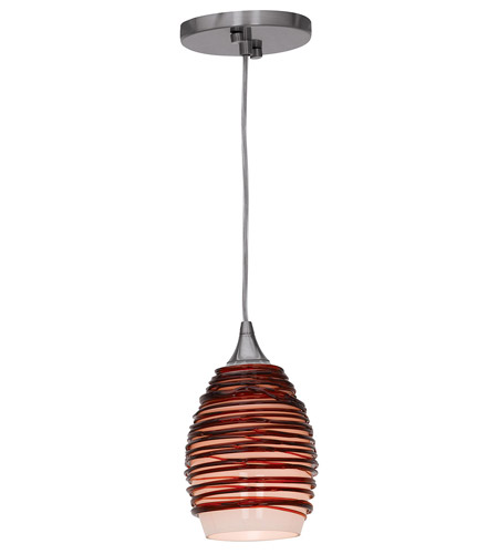 Access 23733-BS/PLM Adele 1 Light 3 inch Brushed Steel Pendant Ceiling Light in Plum  photo