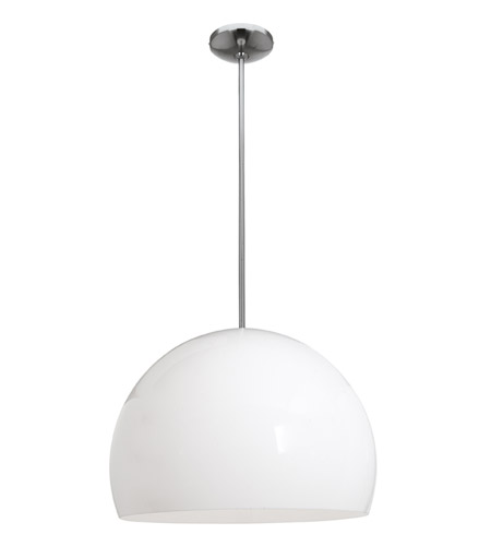 Access Lighting Acrolite 1 Light Pendant in Brushed Steel 23761-BS/AWH photo