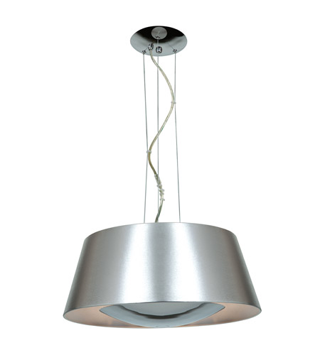 Access 23765 Bsl Soho 3 Light 19 Inch Brushed Steel Pendant Ceiling