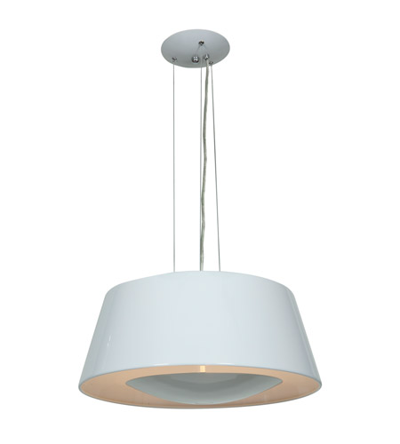 Access 23765-GWH SoHo 3 Light 19 inch White Pendant Ceiling Light photo