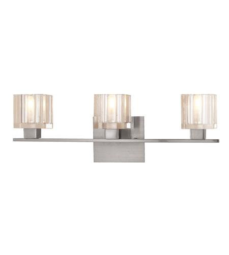 Access Lighting Astor 3 Light Vanity in Satin 23833-SAT/CCL photo