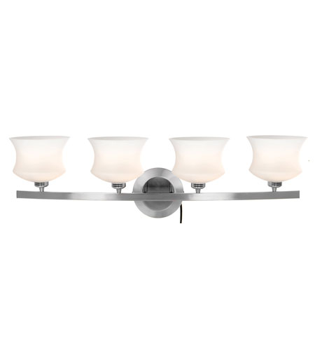 Access Lighting Mystical Isis 4 Light Wall & Vanity in Brushed Steel 23864-BS/OPL photo
