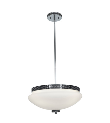 Access Lighting Onyx 4 Light Bowl Pendant in Chrome with Opal Glass 23868-CH/OPL photo