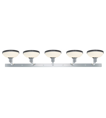 Access Lighting Onyx 5 Light Wall or Vanity Fixture in Chrome with Opal Glass 23875-CH/OPL photo
