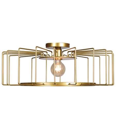 Wired Led 23 Inch Gold Flush Mount