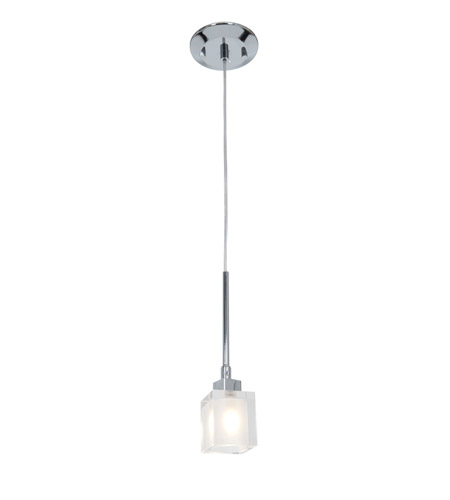 Access Lighting Astor 1 Light Crystal Pendant in Chrome with Inner Frosted Crystal Glass 23905SQ-CH/FCL photo