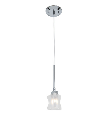 Access Lighting Astor 1 Light Crystal Pendant in Chrome with Inner Frosted Crystal Glass 23905TR-CH/FCL photo