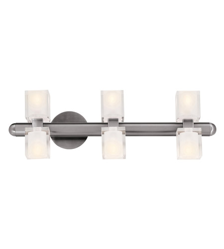 Access 23907-BS/FCL Astor 6 Light 25 inch Brushed Steel Vanity Wall Light in  24.5 inch photo