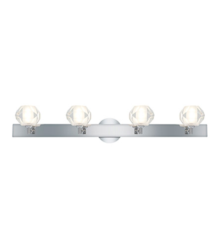 Access Lighting Glase 4 Light Crystal Chrome Wall/Vanity in Chrome with Inner Frosted Crystal Glass 23912-CH/FCL photo